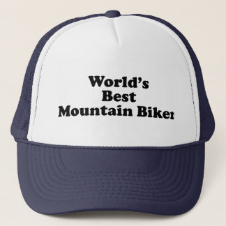 World's Best Mountain Biker Trucker Hat
