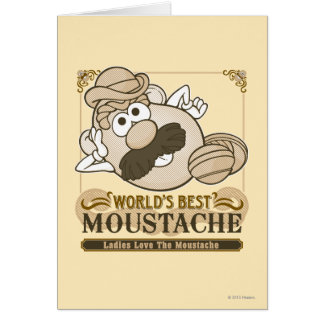World's Best Moustache Greeting Card