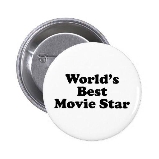 World's Best Movie Star Pinback Buttons