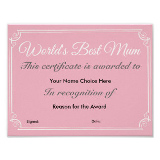 World's Best Mum Poster