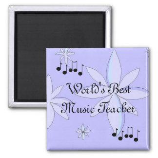 World's Best Music Teacher Square Magnet