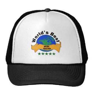 World's Best Music Teacher Trucker Hat