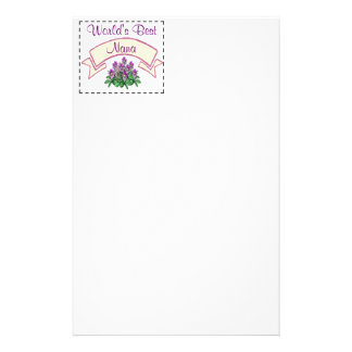 World's Best Nana Customize for your Grandma's Nam Personalized Stationery