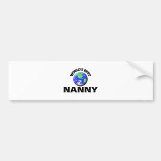 World's Best Nanny Bumper Sticker