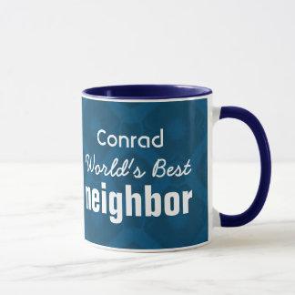 World's Best NEIGHBOR Blue Custom Name v7 Mug