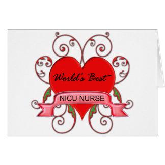 World's Best NICU Greeting Card