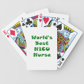 Worlds Best Nicu Nurse Bicycle Playing Cards