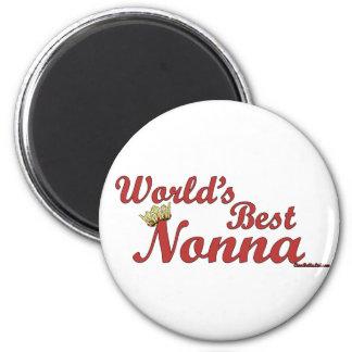 World's Best Nonna 2 Inch Round Magnet