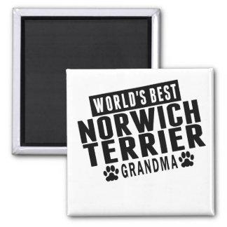 World's Best Norwich Terrier Grandma Square Magnet