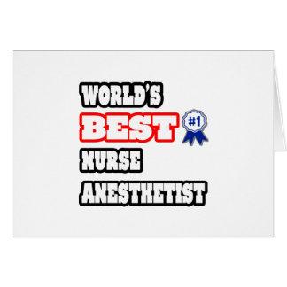 World's Best Nurse Anesthetist Card