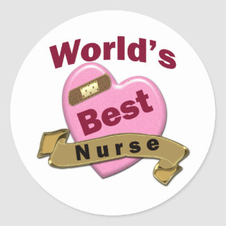 World's Best Nurse Classic Round Sticker