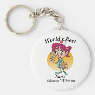 World's Best Nurse Keychain