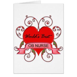 World's Best OB Nurse Greeting Card