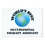 """World's Best Occupational Therapy Assistant 5"""" X 7"""" Invitation Card"""
