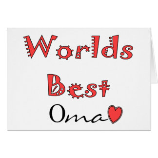 Worlds Best Oma--Mother's Day Gifts Cards