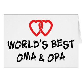 World's Best Oma & Opa Gift Card