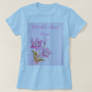 World's Best Oma Pink Lily T-Shirt