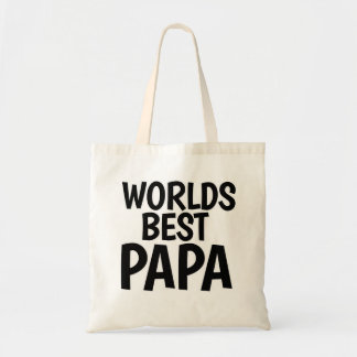 Worlds Best Papa Budget Tote Bag