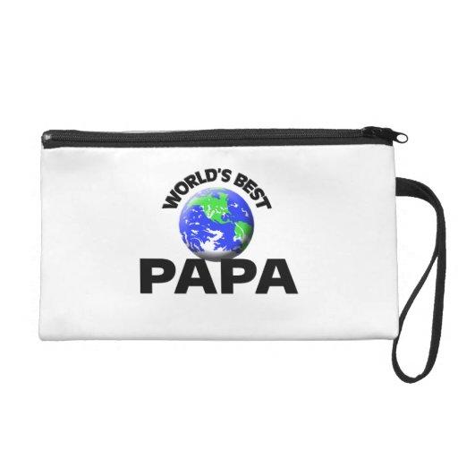 World's Best Papa Wristlet Clutch