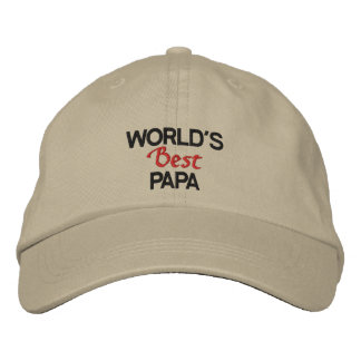 World's best papa embroidered cap