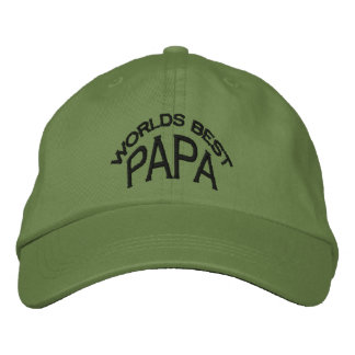World's Best Papa Hat (dark letters)