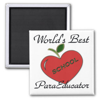 World's Best ParaEducator Square Magnet