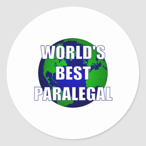 World's Best Paralegal Sticker