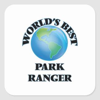 World's Best Park Ranger Square Sticker