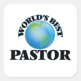 World's Best Pastor Square Sticker