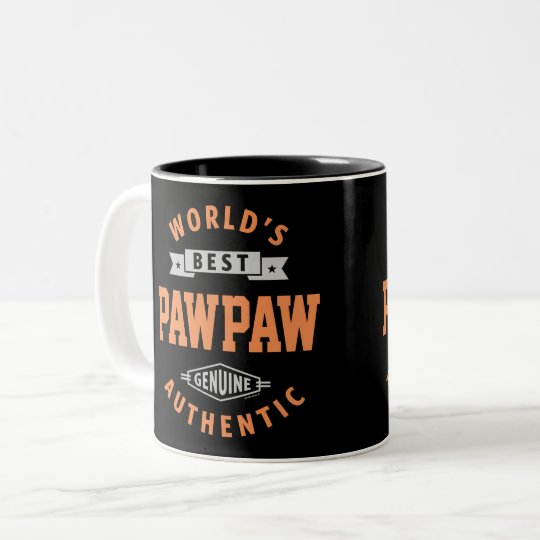 World's Best Paw Paw Two-Tone Coffee Mug