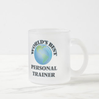 World's Best Personal Trainer Frosted Glass Coffee Mug