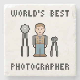 World's Best Photographer Stone Coaster