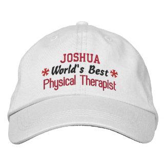 World's Best PHYSICAL THERAPIST Custom Name V01 Baseball Cap