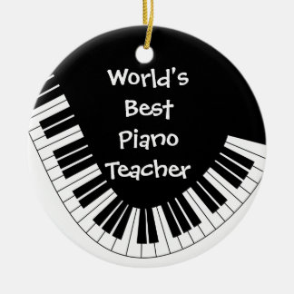 World's Best Piano Teacher Ornament | Customizable