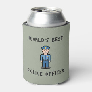 World's Best Pixel Police Officer Can Cooler