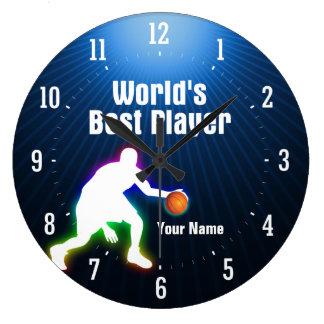 World's Best Player |  Basketball Large Clock