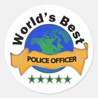 World's Best Police Officer Classic Round Sticker