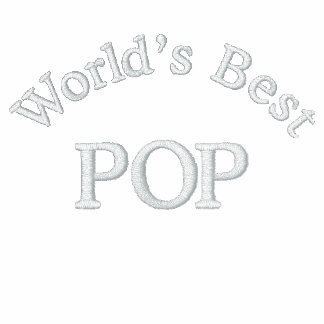 World's Best Pop Embroidered Polo Shirts