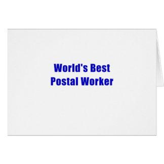 Worlds Best Postal Worker Card
