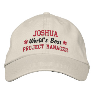 World's Best PROJECT MANAGER Custom Name V05 Embroidered Hat