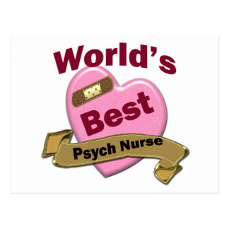 World's Best Psych Nurse Postcard