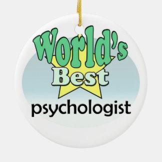 World's best Psychologist Ceramic Ornament