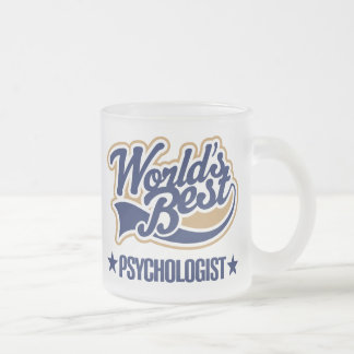 Worlds Best Psychologist Frosted Glass Coffee Mug