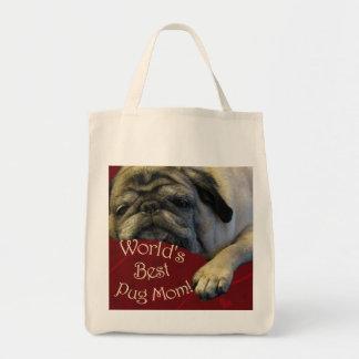 World's Best Pug Mom Tote Bag