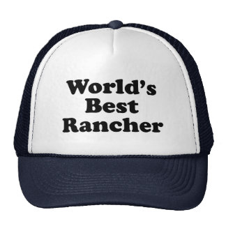World's Best Rancher Trucker Hat