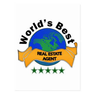World's Best Real Estate Agent Postcard