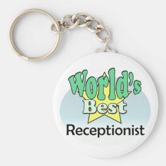 World's best receptionist keychain