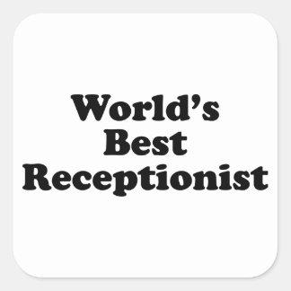World's Best receptionist Square Sticker