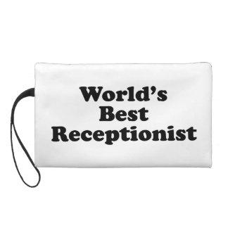 World's Best receptionist Wristlet Purses