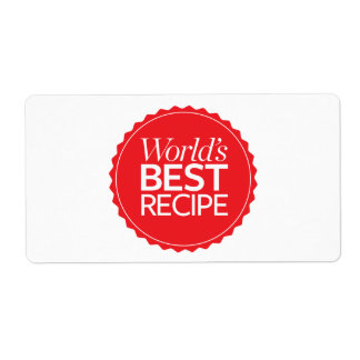 World's Best Recipe Shipping Label